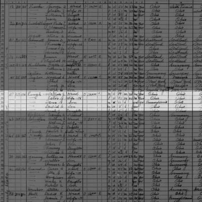 1930 Census Wallace & Esther Prugh Family