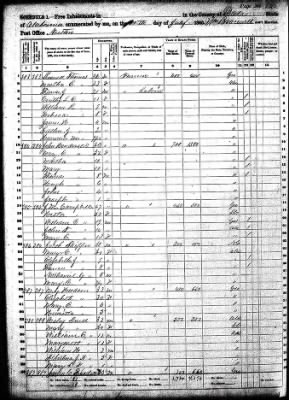1860 US Census - Dale County, Alabama (1 of 2)