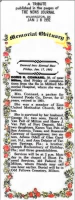 Obituary - Doris R. Connard