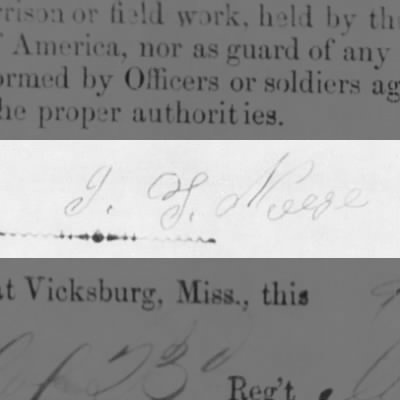 Signature of John Thomas Neese