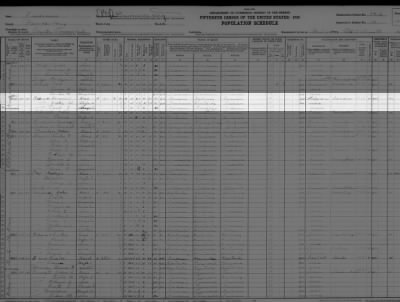 Jettie Weaver Raley and family in 1930 Census