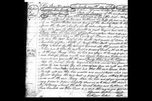 Property deed between Bedy Akers & Spencer and Lydia Collings