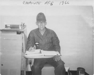 Bill Kover on guard duty, Chanute AFB (1966).jpg - Fold3.com