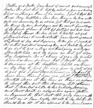 Geo M Detwiler Civil War letter January 1864