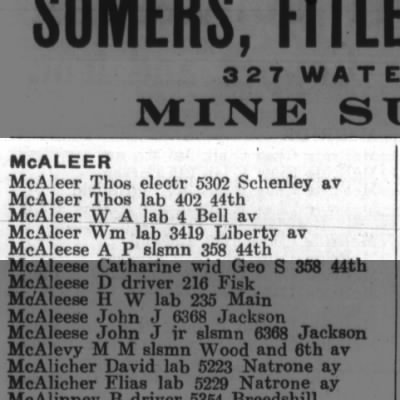 1912 Pittsburgh City Directory