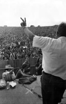 Max Yasgur at Woodstock