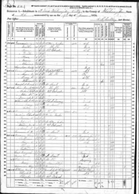 Emily R. NORRIS, mother of Calvin C. C. J. NORRIS 1870 fed census taken in Washington