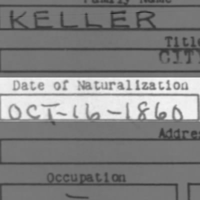 Mathias' Naturalization Date