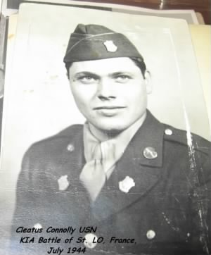 Cleatus J Connolly, KIA (1922-1944) France, Army Infantry