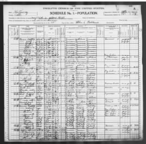 Preston and Mary (Edwards) Beason 1900 us census KY Bell