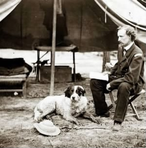 Custer, George A. & his dog, 1862.JPG