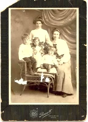 Charlie, Mother, Sister, brother Bob and Aunt. 1904 in Omaha, Nebraska