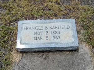 Susan Frances Barfield Grave