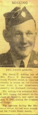 David C. Adkins, MIA