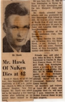 Obituary for Byron Francis Hawk