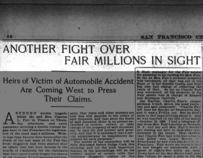Another fight over fair millions