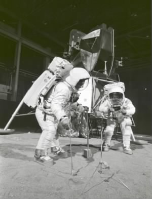Apollo 11 Crew During Training Exercise