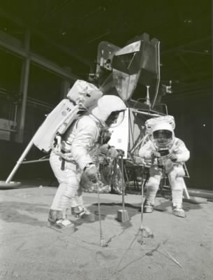Apollo 11 Crew During Training Exercise  - Fold3.com