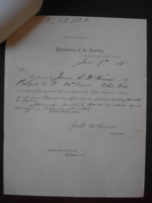 Civil War Invalid File - James Broomhall McKisson