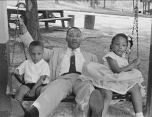 Dr King with two of his children.jpg