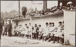The Pittsburgh Pirates in the dugout at the Huntington Avenue Grounds[...] › Page 1 - Fold3.com