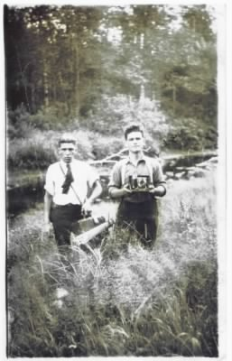 L) __? and Ernest, Fernand's Dad at a younger age.