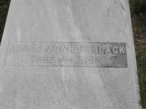 Black, James Monroe 1932 tombstone.jpg
