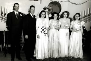 FH-FAMD-009b Norman Van Duncan Age 34 and Flora Annie Miles Age 24 Wedding -- 28 Apr 1948.jpg