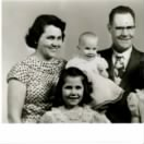 FH-FAMD-014a Duncan Family Flora 32, Esther 6 mo, Norman 42, Becky 6, Steph 7 -- 1956.jpg