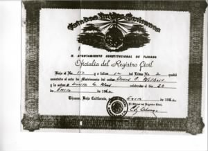Duard Wilhoit and Lucille G Woods (Bremmer) - Wedding Certif.