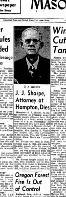 James Joseph Sharpe Obit