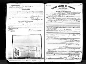 James Allan Knapp - Naturalization papers