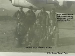 Bernard B Barrett, 310th BG, 379th BS, WWII /MTO