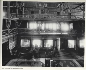 The Old Faithful Inn Lobby in 1904