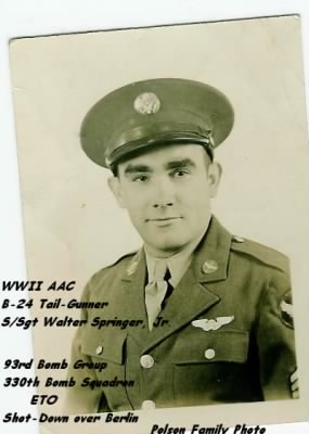 S/Sgt Walter Springer, B-24 Tail-Gunner /KIA 6 march, 1944