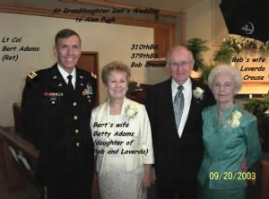 Bob and Laverda (Right) with daughter Betty and husband Lt Col Bert Adams, Ret.