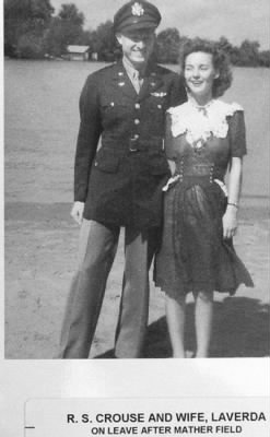 Lt Robert S Crouse (B-25 Pilot) and Laverda (King) Crouse about 1943