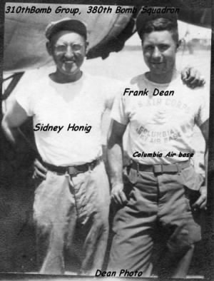 310th BG, 380th BS, Sidney Honig and Frank Dean /Corsica /WWII