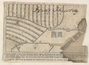 Plan of Lincoln's box at Ford's Theatre