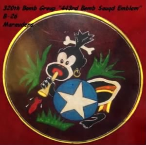 "320th Bomb Group, ""443rd Bomb Squad Emblem"""