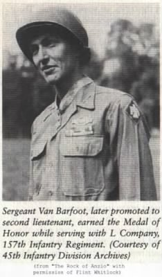 "WWII ARMY ""Medal Of Honor"" Van Barfoot"