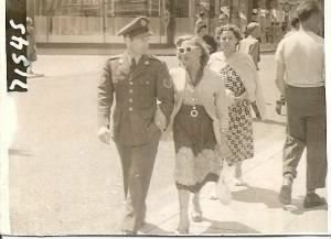 T/Sgt James and Mrs. Morefield - Margate England in about the mid-1950's