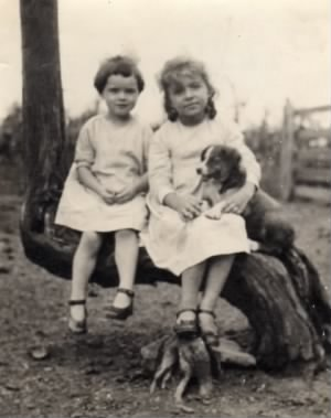 Rita and Margi and their dog