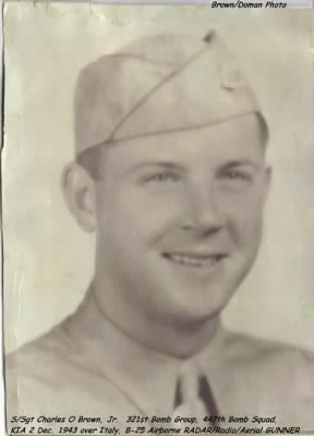S/Sgt Charles O Brown, Jr.  321stBG,447thBS, RADAR/Radio/Gunner