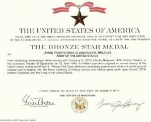 Bronze Star Award