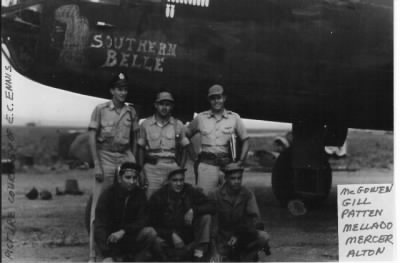 Frank was raised in Georgia and names his B-25 Combat Ship for his wife Gwen - Fold3.com