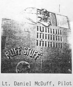 Lt Dan McDuff in the B-25 RUFF STUFF #41-30000