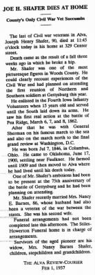 JH Shafer Obit