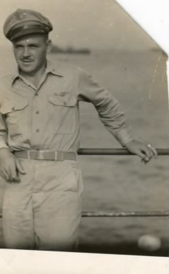 Major PAT Paul on board the USS Nashville in the WWII Pacific Theatre.