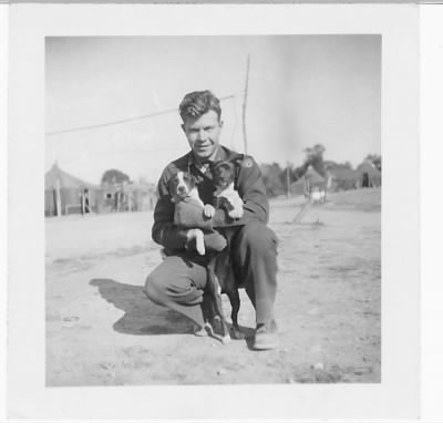 321stBG,445thBS, Capt Dan with the PUPPY - Mascot of the Squadron /Corsica, 1944 - Fold3.com